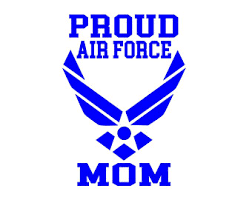 Air Force Mom Decal Etsy
