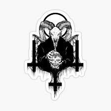 Satanic Stickers Redbubble