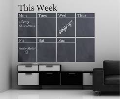 Chalkboard Weekly Calendar Vinyl Wall Decal Sticker Decor Designs Decals Chalkboard Wall Decal Wall Calendar Design Vinyl Wall Decals