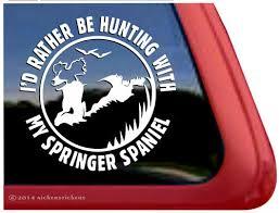 Springer Spaniel Dog Decals Stickers Nickerstickers