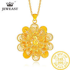btss 24k pure gold pendant real au 999