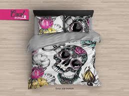 personalized bedding sugar skull