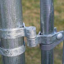 Yardgard 2 3 8 In Chain Link Galvanized Walk Through Gate Hardware Set 328536c The Home Depot
