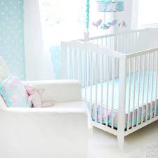 in aqua 3pc crib bedding set by my baby sam