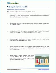 5th grade word problem worksheets