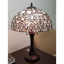 silver and white table lamp