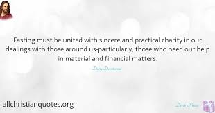 derek prince quote about help material fasting charity