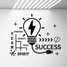 Success Motivation Wall Decal Quote Idea Teamwork Creative Office Room Decoration Inspire Mural Decals Self Adhesive Pvc G362 Wall Stickers Aliexpress