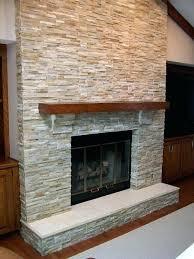 white rock fireplace tile symch