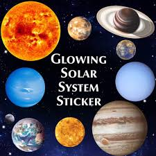 C Fundiscount Shop 10 Pcs Glow In Dark Stars And Planets Wall Stickers Solar System Space
