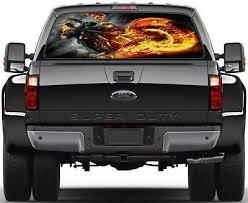 Ghost Rider Rear Window Decal Graphic Sticker Car Truck Suv Van 493 Ebay