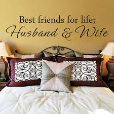 Wedding Romantic Wall Decal Best Friend For Life Husband Wife Quote Vinyl Decor Ebay