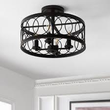 light 15 5 caged drum semi flush mount