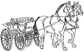 Kleurplaat Paard En Koets