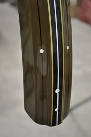Restoration Of A 1918 Harley Davidson Bicycle Part 6 Pinstripes And Decal Dave S Vintage Bicycles