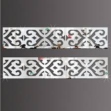 Buy 3d Modern Mirror Flowers Vinyl Removable Wall Sticker Decal Home Decor Art Sl V1352 By Yuanzala On Opensky