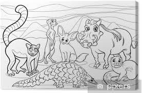 Canvas Afrikaanse Dieren Cartoon Kleurplaat Pixers We Leven