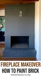 how to paint a fireplace from vintage