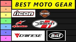best motorcycle gear tier list ranked