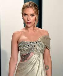 Scarlett Johansson Tattoos Are Back For The Oscars 2020