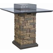 propane gas square fire pit table 30