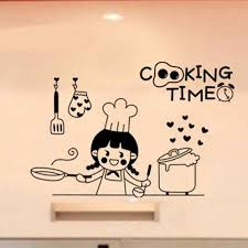 Happy Cooking Time Vinyl Wall Stickers For Kitchen Art Wall Sticker Home Design Decor Wall Decal Nalepki Do Poko Ju Sa120 Stickers For Kitchen Vinyl Wall Stickerswall Stickers For Kitchen Aliexpress
