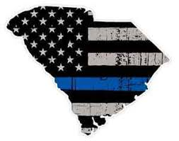 South Carolina State U41 Cop Thin Blue Line Vinyl Yeti Tumbler Decal Sticker Ebay