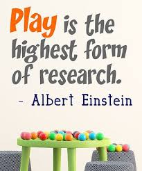 Play Is The Highest Form Of Research Wall Decal Playroom Playroom Wall Vinyl Wall Quotes