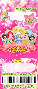 Ticket Princesas Jpg 686 1600 Invitaciones Invitaciones De