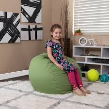 Shop Small Solid Refillable Bean Bag Chair For Kids And Teens Overstock 10085066