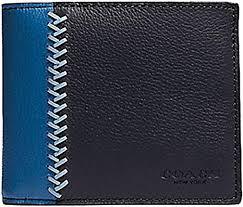 baseball stitch leather wallet