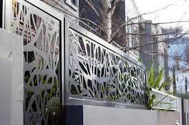 contemporary organic fence toppers in