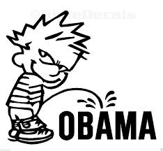 6 Calvin Piss On Obama Vinyl Decal Window Sticker For Sale Online Ebay