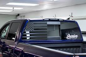 American Flag Rear Driver Window Decal 2016 2019 Titan Xd Premium Auto Styling