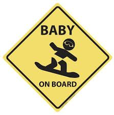 Baby On Board Vinyl Decal Snowboard Vinyl Decals New Baby Products Baby Onesies
