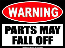 Parts May Fall Off Warning Funny Sticker Decal Mechanic Decal Auto Car Truck 477 Ebay