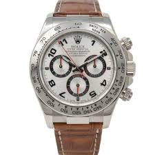 rolex daytona 116519 mens 18k white