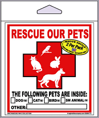 Imagine This Company Rescue Our Pets Decal 2 Count Chewy Com