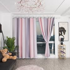 Eyelet Ring Top Gradient Double Layer Tulle Sheer Curtain Blackout Curtains Hollow Out Stars Room Darkening Starry Curtainkids Girls Boys Kids Bedroom Decor Walmart Com Walmart Com