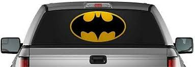Batman Logo Perforated Dark Knight Pick Up Truck Back Window Graphic Decal Vinyl Ebay