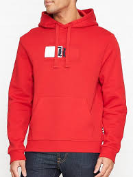 Tommy Hilfiger Lewis Hamilton Flag Logo Overhead Hoodie - Red | very.co.uk
