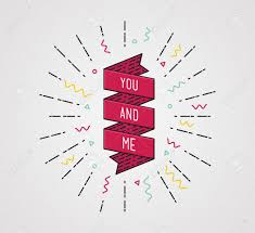 you and me color inspirational quotes typographic poster design