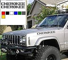 Amazon Com Oracal 2pc Hood Decals 2 5 X 22 Decal Sticker Compatible With Jeep Cherokee Black Automotive