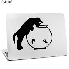 Vinyl Sticker For Apple Macbook Air 11 13 Inches For Mac Pro Retina 13 15 Skins Cover Glow Black Decal Cat Monkey Wolf Touch Sticker For Apple Macbook Apple Stickers For Macbooksticker For Macbook