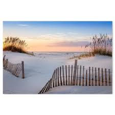 Sunrise At The Beach With Sea Oats And Dune Fence Gioia Wall Art