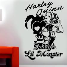 Harley Quinn Suicide Squad Daddys Lil Monster Wall Art Sticker Decal Ebay