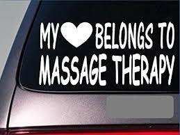 Massage Therapist My Heart Belongs Sticker G529 8 Vinyl Spa Swedish Deep Walmart Com Walmart Com