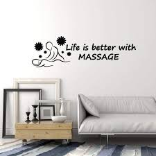 Vinyl Wall Decal Massage Room Spa Salon Relax Quote Saying Art Decor S Wallstickers4you
