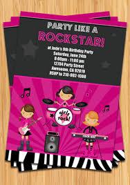 Chicas Rock Estrellas Cumpleanos Fiesta Invitacion Etsy