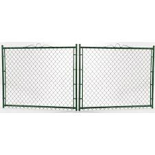3 5 Ft H X 10 Ft W Vinyl Coated Steel Chain Link Fence Gate In The Chain Link Fence Gates Department At Lowes Com